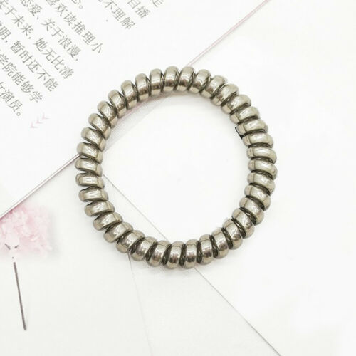 Women Elastic Ponytail Telephone Cord Hair Ring Traceless Rubber Bands Hair Ties