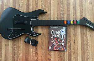 Guitar Hero Kramer Striker Red Octane Wireless PS2 With STRAP & GAME No Dongle