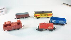 5 X H0 Divers Wagons De Différentes Sociétés Courant Continu Ferroviaire Spécialiste A-588 Vente D'éTé SpéCiale