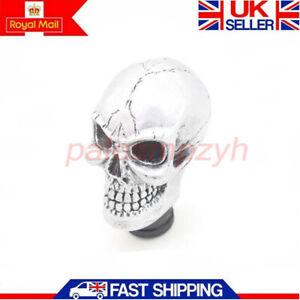 Car Truck Skull Bear Shifter Gear Lever Shift Knob Manual MT Universal Silver UK