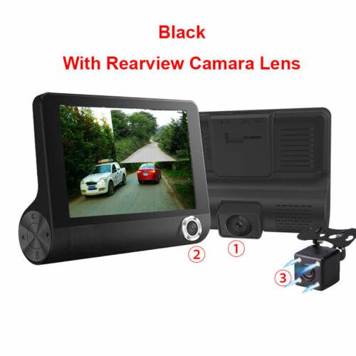 Car DVR Dash Cam 4.0 Inch Video Recorder Auto Camera 3 Lens Rear View Dashcam