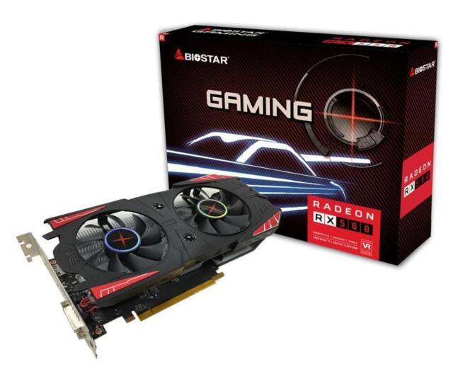 Biostar Radeon RX 560 4GB DDR5 DirectX 12 Mining GPU Elpidia Ram VA5615RF41