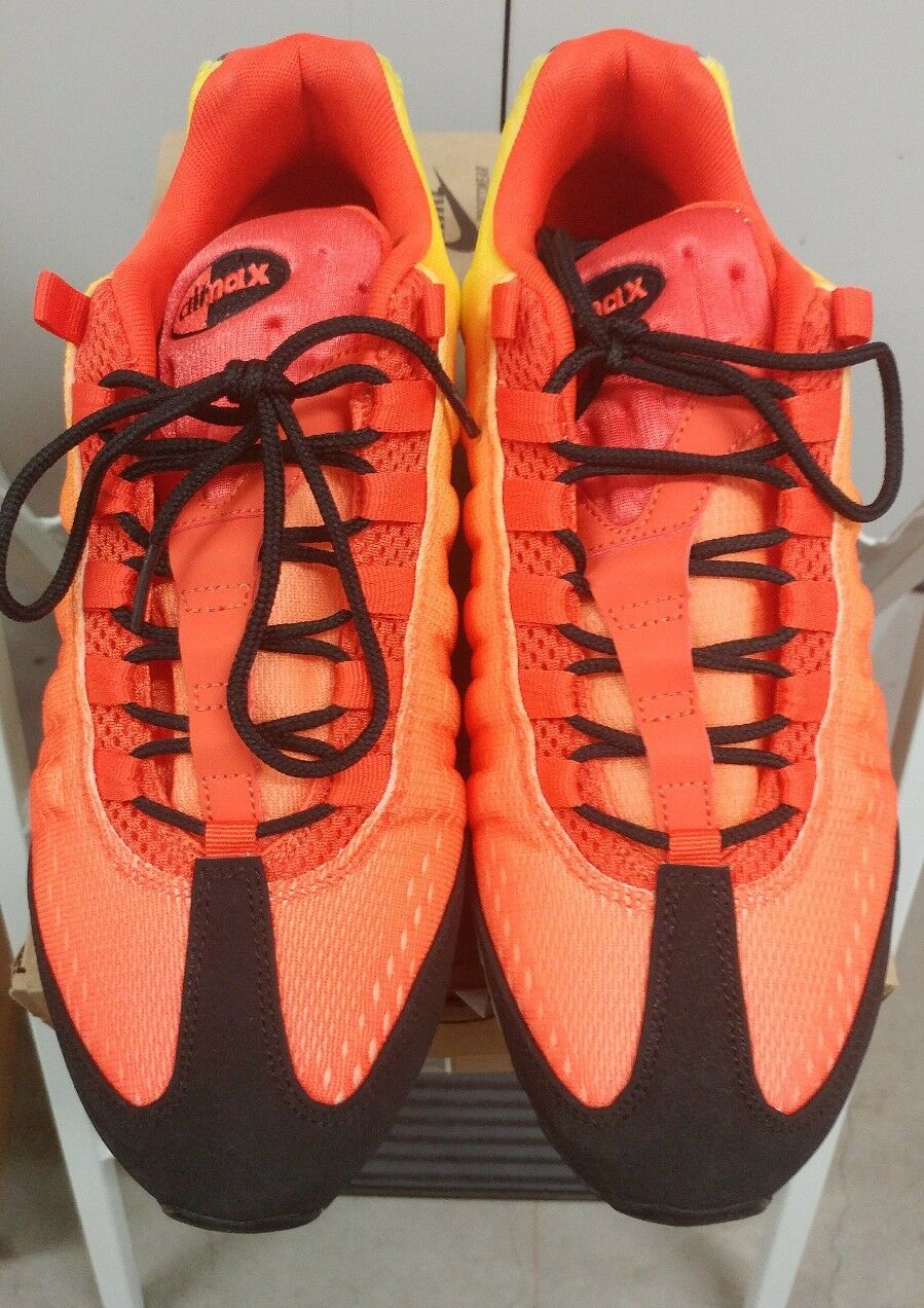 Il sergente nike air max 95 em tramonto pack squadra orange-total crimson sz 10 [554971-886]