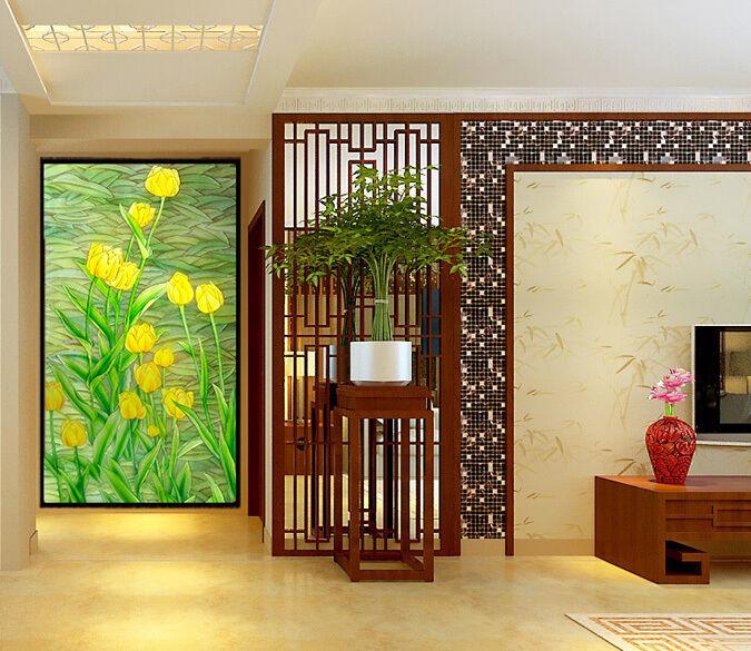 3D Gelb Tulips 1 WallPaper Murals Wall Print Decal Wall Deco AJ WALLPAPER