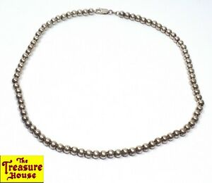 """18/"""" Sterling Silver Necklace Italian Ball Bead Chain Pure 925 Italy US Wholesale"""