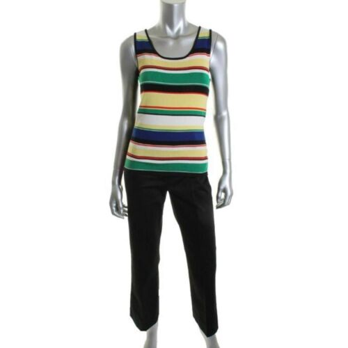Nuovo Outfit Knit Multi Louilee 2p Striped Flat Front Petites Tahari zpfqTwW