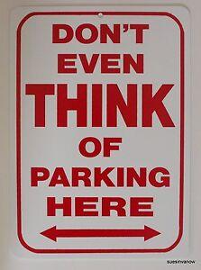 Plastic-Sign-Dont-Even-Think-of-Parking-Here-Garage-Bar-Decor-Biker-motorcycle