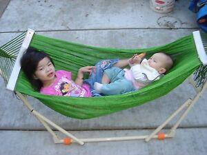 image is loading indoor outdoor kid 039 s hammock swing bed  indoor outdoor kid u0027s hammock swing bed with heavy duty adjustable      rh   ebay
