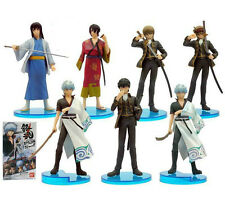 Anime Gintama Set 7 Sakata Gintoki Toy Figure Figurine Doll New In Box