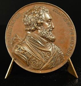 Medaille-Henri-IV-63-eme-Roi-de-France-III-King-of-France-frappe-vers-1840-medal
