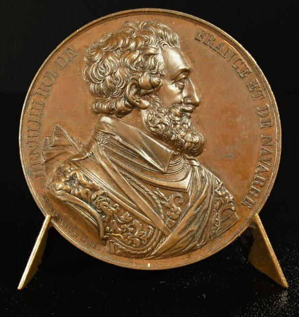 Médaille Henri IV 63 ème Roi de France III King of France frappe vers 1840 medal