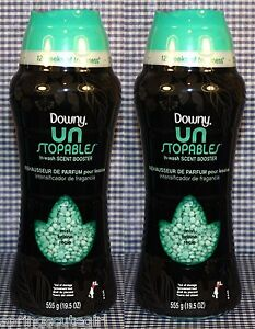 2 downy unstopables mist scent laundry in wash scent booster clothes