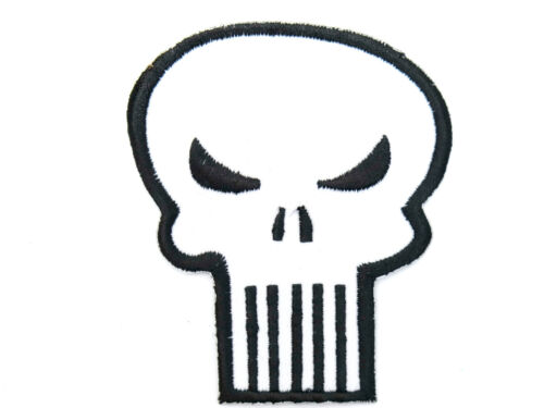 Special Forces Punisher Skull Iron On Sew On Embroidered Shirt Hat Badge Patch