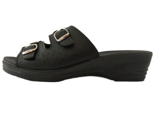 Sandali 1 Unito Pantofole Scarpe Nero Zoccoli Nuovo Bravo Ciabatte Donna 203 Slip On Regno xXwnU5fq4