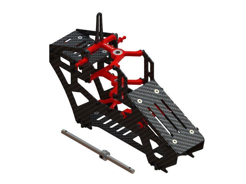 Luchs klinge 200 sr x rot aluminium   kohlefaser - ultra hauptrahmen lx1316