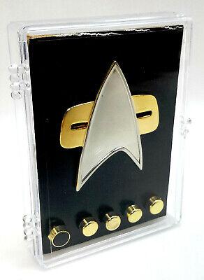 Star Trek Next Generation Communicator Pin Combadge Com Badge Rank 8x4mm Pip