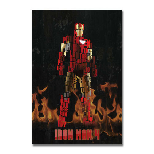 Iron Man Hot Movie Art Canvas Poster Print 12x18 24x36 inch