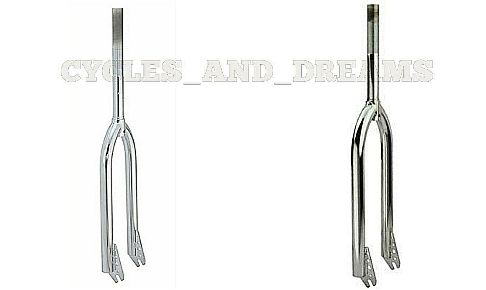 Original Bicycle Bike 2 Sizes Beach Cruisers Steel Fork 1  Threaded Chrome