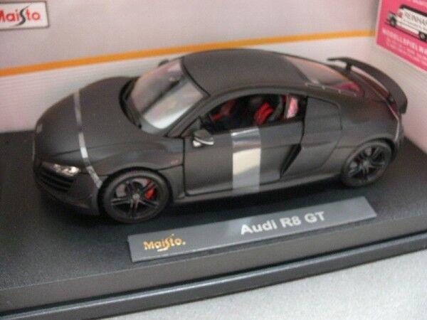 1/18 1/18 1/18 MAISTO Audi r8 gt Noir Mat 36190 43af57
