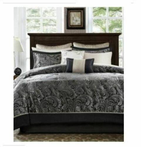 Addison Park Aubrey King 9-Pc. Comforter Set - Black T4101234