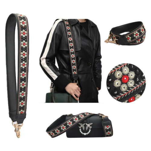 Embroidery Shoulder Strap DIY Cross Body Adjustable Leather Handle Replacement