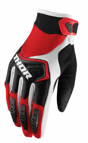 Small Red//Black THOR MX Motocross Men/'s 2018 SPECTRUM Gloves S