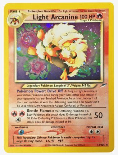 Neo Destiny Holos Pokemon Cards Light Dragonite Arcanine Dark Espeon Scizor