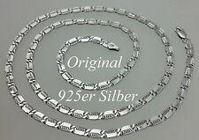 925 echt Silber 3,9 mm 60 cm Plattenkette Sterlingsilber Neu MASSIV Hals kette