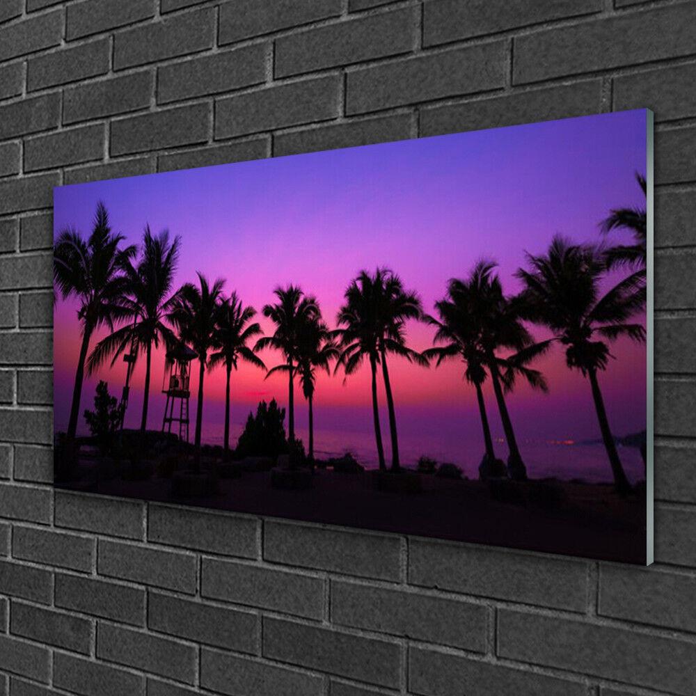 Image sur verre Tableau Impression 100x50 Paysage Palmiers