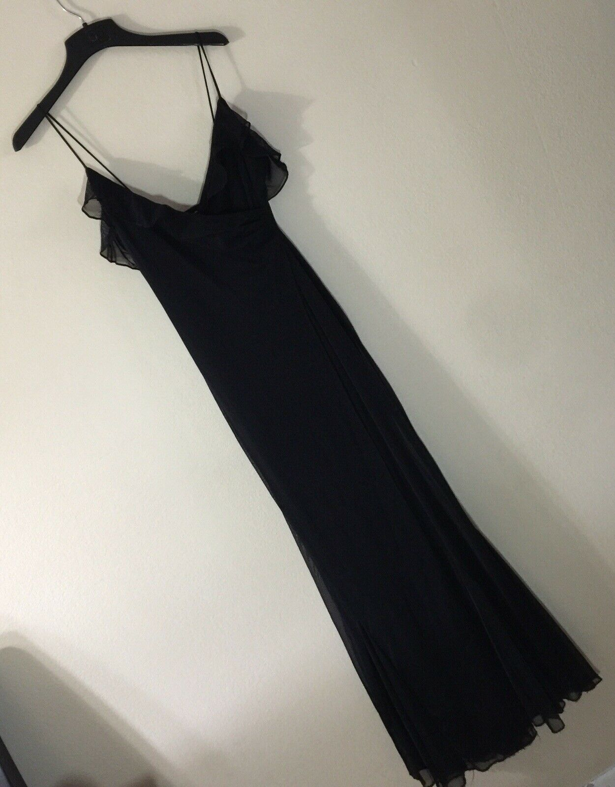 David Dalrymple For Patricia Field Noir robe de soirée Sz M adorable  Made in USA