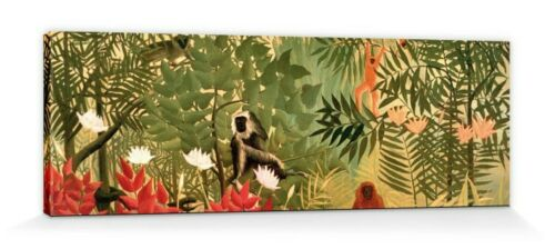 Henri Rousseau #102812 Tropischer Wald Poster Leinwand-Druck Bild 120x40cm