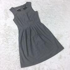 H&M Grey Gray Office Business Smart Formal Dress Work Wear UK 10 Button Detail