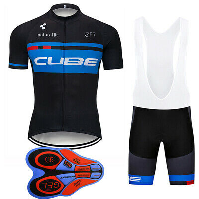 2019 Mens Cycling Clothing Bicycle Short Sleeve Cycling Jersey Bib Shorts 9D set