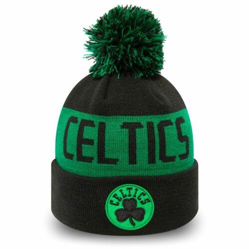 New Era Strick Wintermütze Bobble Beanie Boston Celtics