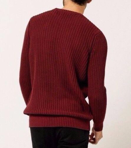 Rollas Burgundy Bnwt Sweater Xl Jumper Knit Crew 4IPqdA
