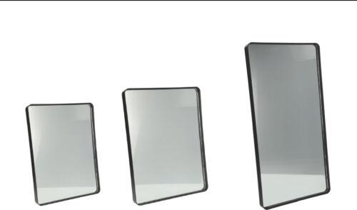 Specchio rettangolare da parete Fabric, bordo in ferro,disponibile in 3 misure