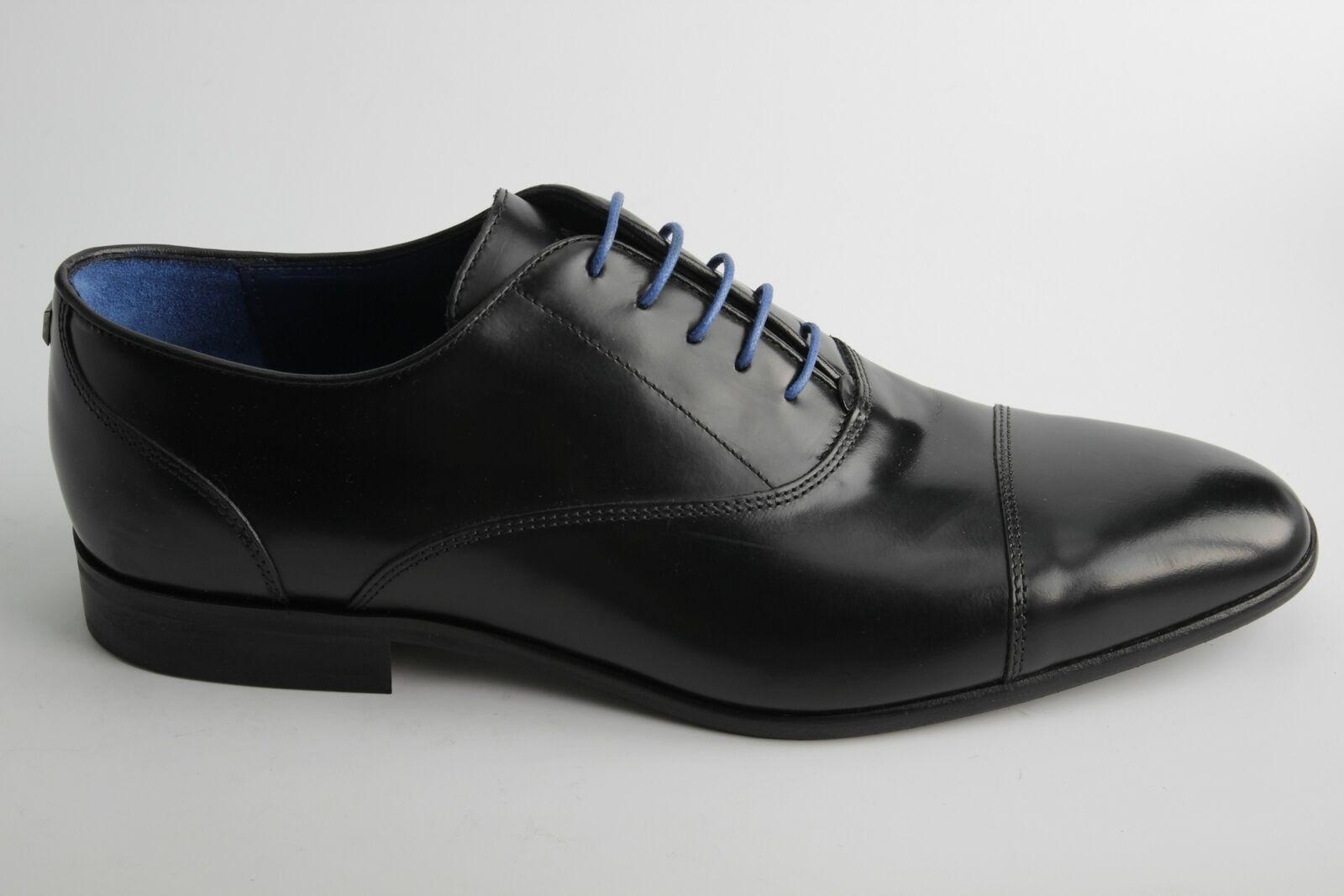 Azzaro Paris Herrenschuh VN82102 RAEL Schnürschuh Schwarz Leder Business Schuh
