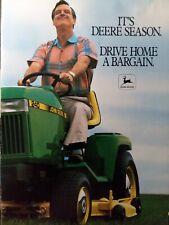 John Deere 1989 Color Sales Brochure Riding Lawn Mower 420 Garden Tractor Manual