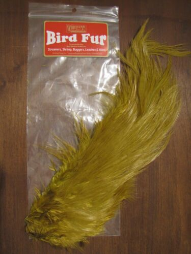 Fly Tying-Whiting Farms Spey Bird Fur Golden Olive
