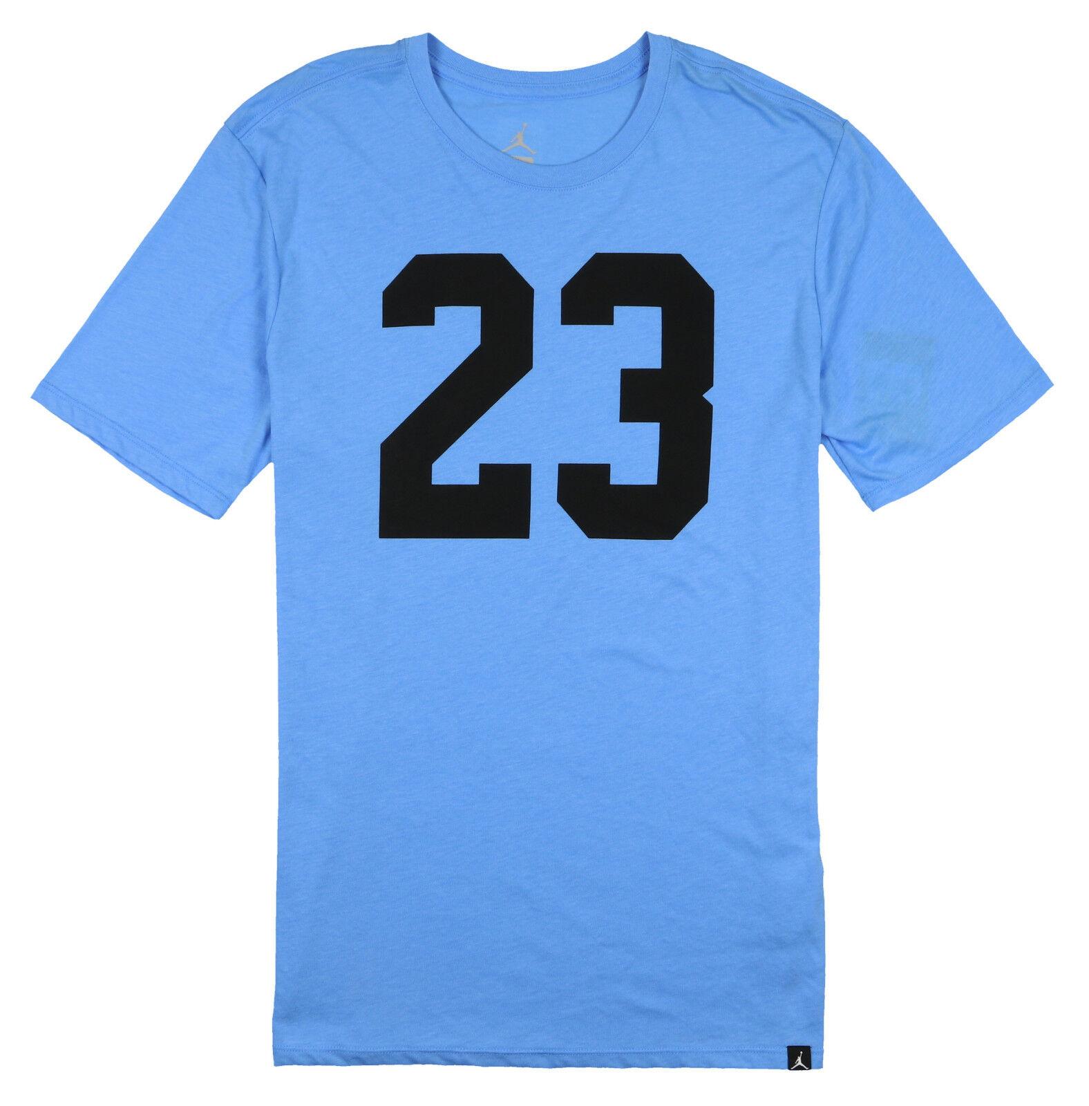 JORDAN Tri-Blend Iconic 23 T-Shirt sz M Medium University bluee Retro Flight