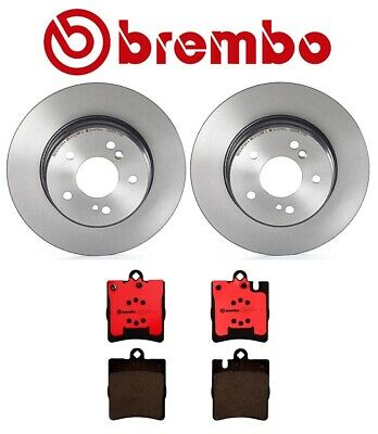 For Mercedes W202 W203 Set of 2 Rear Disc Brake Rotors Brembo 210 423 06 12 A