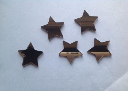Bronze Star Shaped Acrylic Mirror Embellishments 1cm x 20.