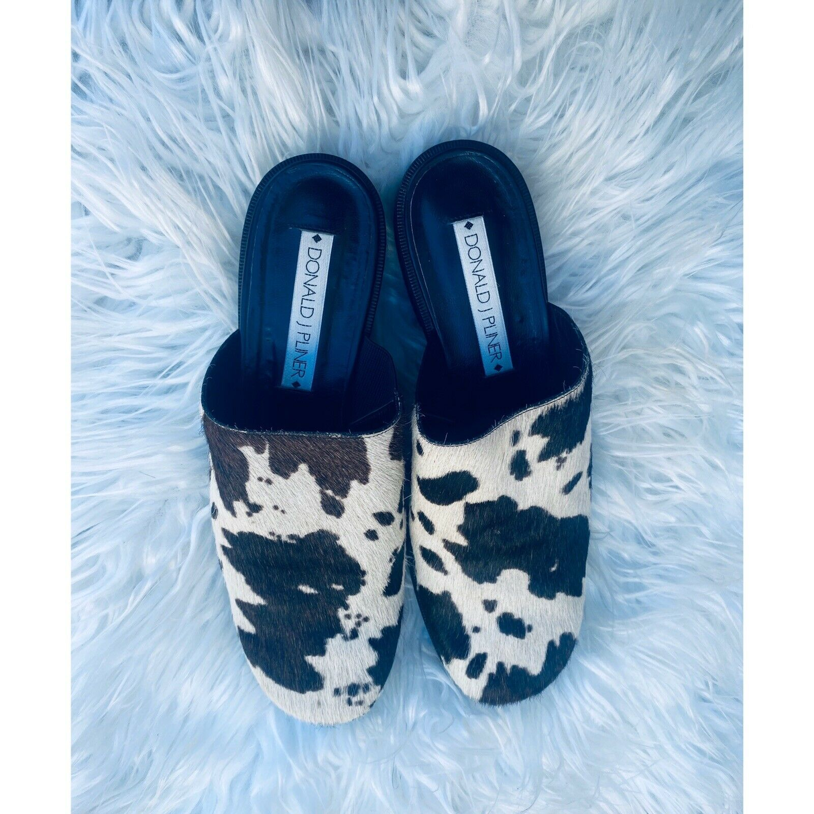 Donald Pliner 90s inspired cow hair mules - image 3