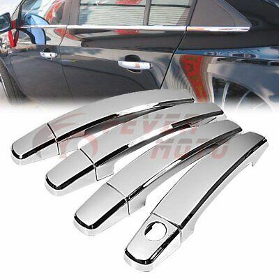 Triple Chrome Side Door Handle Cover Cap Keyhole For LEXUS IS200 IS300 RX300 FM
