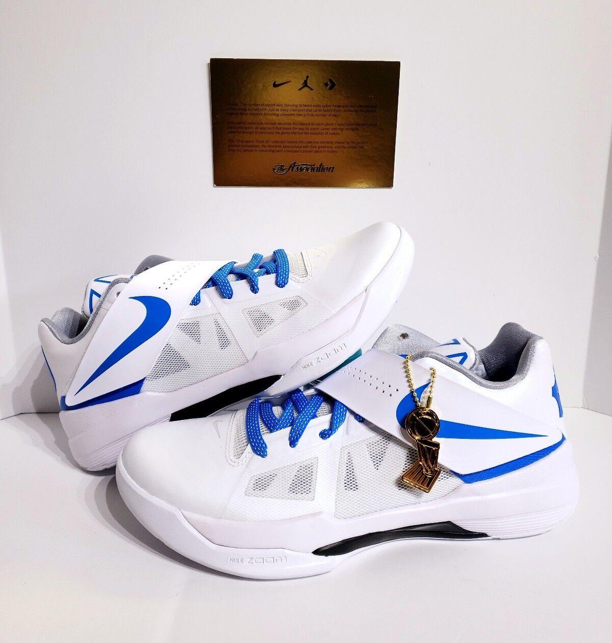 Nike KD 4 IV CT16 QS Blue Thunderstruck Mens AQ5103-100 White Blue QS Shoes Size 12 c22f68