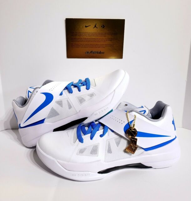 buy popular efe67 03ecf ... get nike kd 4 iv ct16 qs thunderstruck mens aq5103 100 white blue shoes  size 11