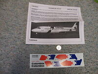 Flight Path Decals 1/100 Fp10-46 Columbia Air Dc-9-30 A24