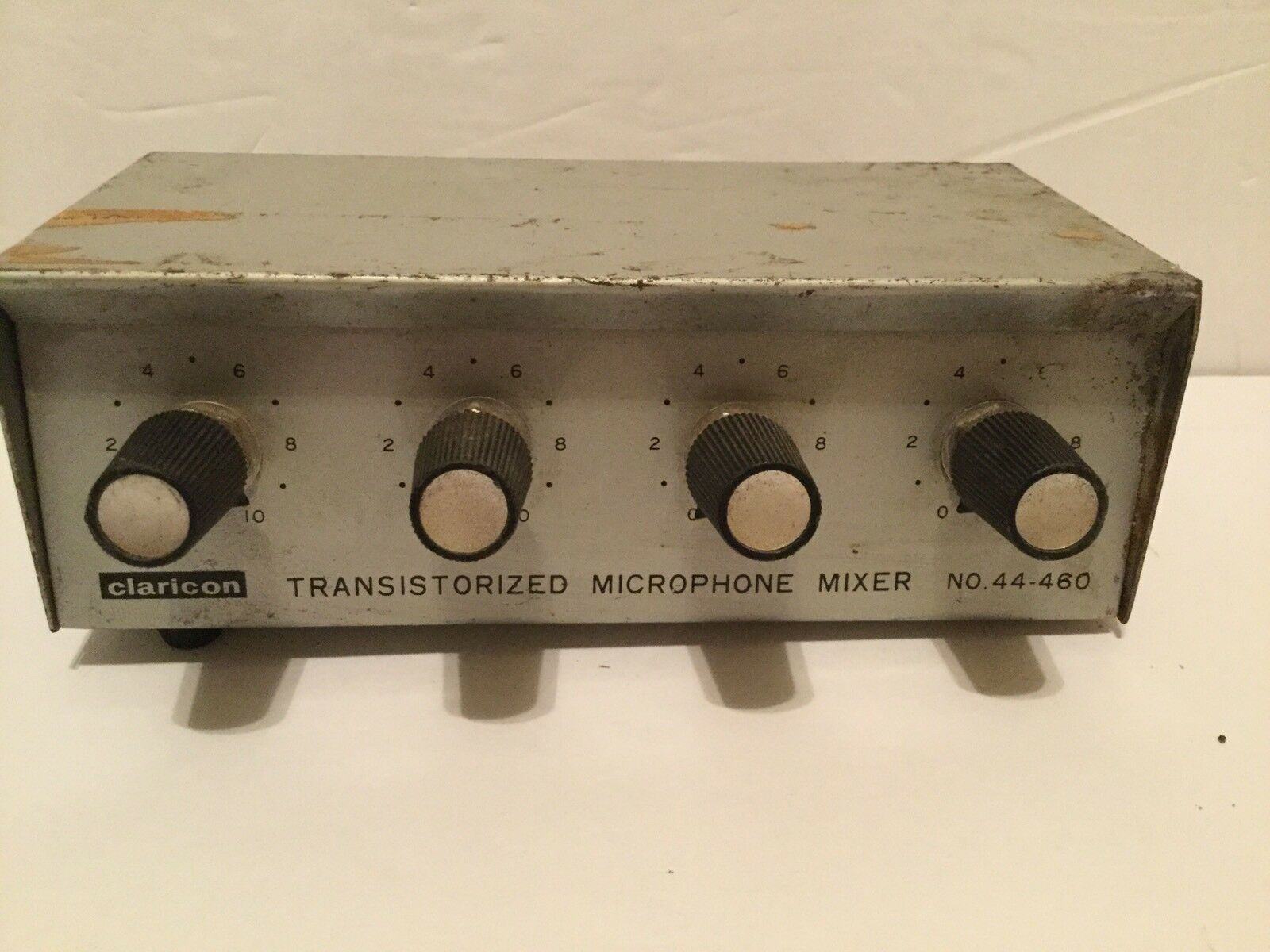Claricon 44-460 Transistorized Stereo Portable Mike Mixer 4 Channel Portable Stereo Vintage 94fe4e