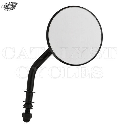 """Black 3/"""" Round Bolt-On Mirrors for Harley Mirror set with Adjustable Stem"""