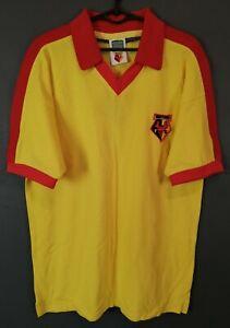 MINT MENS RETRO REPLICA FC WATFORD 1978/1982 SOCCER FOOTBALL SHIRT JERSEY SIZE M